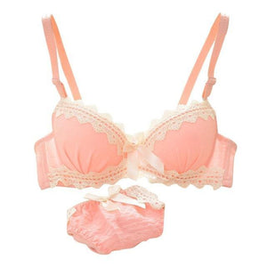 Sexy Young Women Push-Up Padded Bra Set Lingerie Underwear Brassiere&Panties Suit 2dresskily-dresskily
