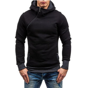2018 Men Hoodie Oblique Zipper Sweatshirt Mens Hip Hop Hoodies Fashiondresskily-dresskily