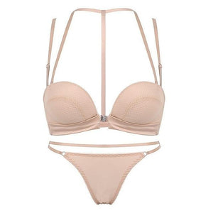 New Sexy Push Up Front Closure Lingerie Set Gathering Seamless underwear 3/4dresskily-dresskily