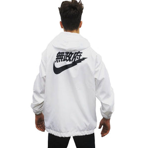 Drop Shipping Chinese Characters Windbreaker Jacket Men Fashion Logo Letter Printed Womendresskily-dresskily