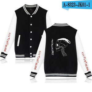 Waidx Xxxtentacion Baseball Sweatshirt Men Jackets New Arrive Pocket Hip Hop Streetweardresskily-dresskily