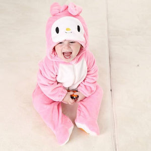 Winter Baby Rompers Fleece Jumpsuit For Kids Animal Suit Girls Pajamasdresskily-dresskily