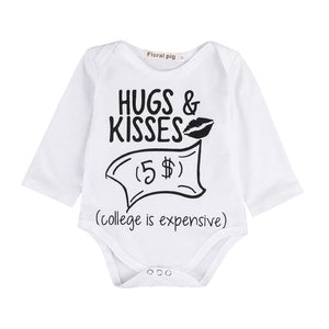 Newborn Toddler Baby Boys Girls Letter Print Romper Jumpsuit Outfits Clothingdresskily-dresskily