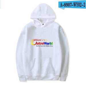 Print Travis Scotts ASTROWORLD Hooded Hoodies Men/Women Clothes 2018 Harajuku Hipdresskily-dresskily