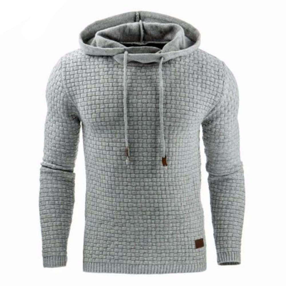 Hoodies Men 2018 Puseky Male Long Sleeve Solid Color Hooded Sweatshirt Mensdresskily-dresskily