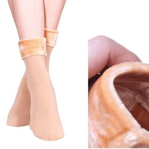 New Winter Women Socks Casual Wool Cashmere Women Thicken Thermal Soft Soliddresskily-dresskily