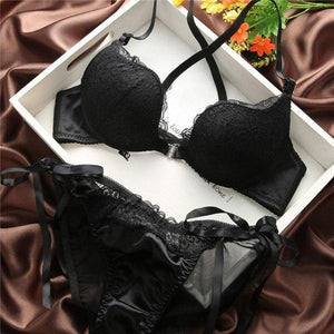 Sexy Women Lace Push-Up Bras Front Buckle Underwear Lingeries Bra Sets Cupdresskily-dresskily