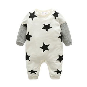 Baby Girl Rompers Autumn 3 Colors Star Printed Newborn Baby Clothes Fordresskily-dresskily