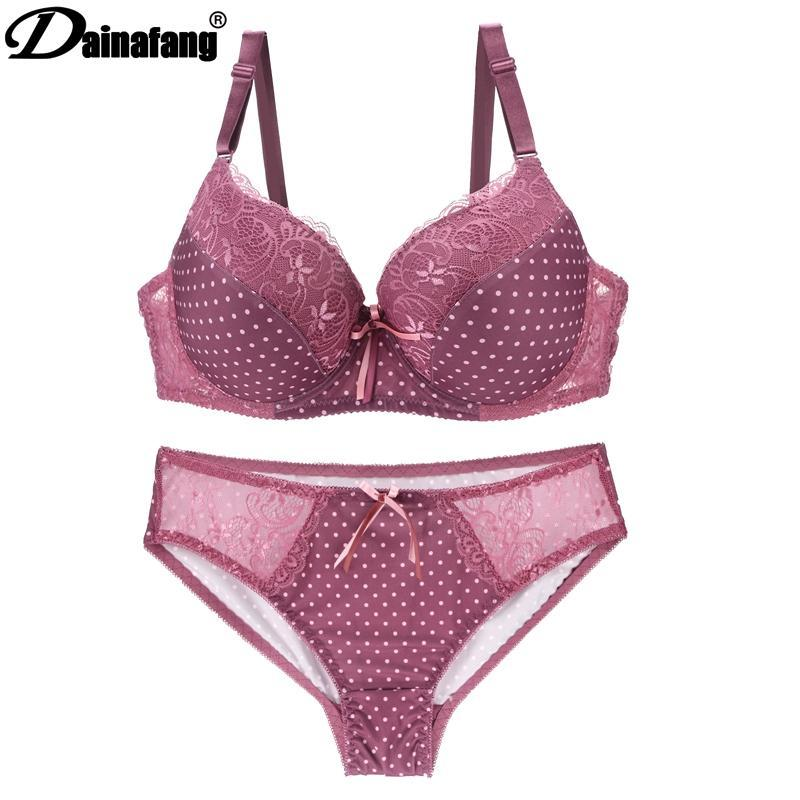 DAINAFANGCDE 85 90 95 Gold Push Underwear Up Lace Lady Lingeriedresskily-dresskily