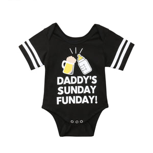 0-24M Causal Newborn Infant Baby Boy Girl Short Sleeve Milk Bottle Printdresskily-dresskily