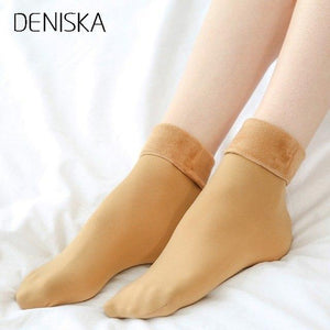 DENISKA 1pair Winter Women Warm Socks Hosiery Thicken Sock Wool Home Calcetinesdresskily-dresskily