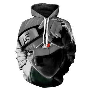 Brand Men's Autumn Casual kakashi Hoodie Anime Fire Shadow Character 3D Sweatshirtdresskily-dresskily