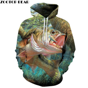 3D Fish Hoodies Sweatshirts Men Pullover Casual Tracksuits Fashion Streetwear Brand Hoodiedresskily-dresskily