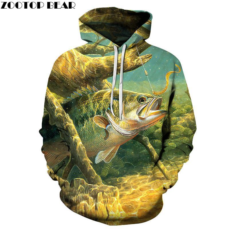 Hot Sale Fish Hoodies 3D Hoodies Sweatshirts Men 3d Pullover Funny Printdresskily-dresskily