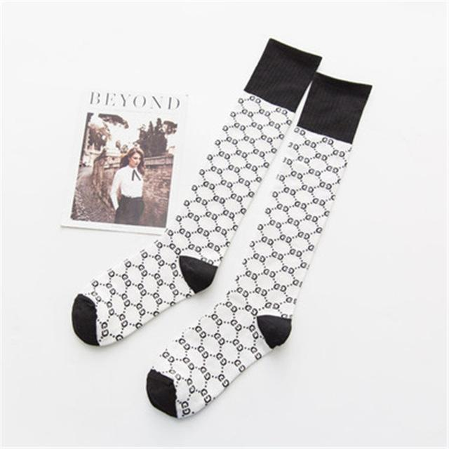 Fashion week autumn and winter new products GGc letter calf socks cottondresskily-dresskily