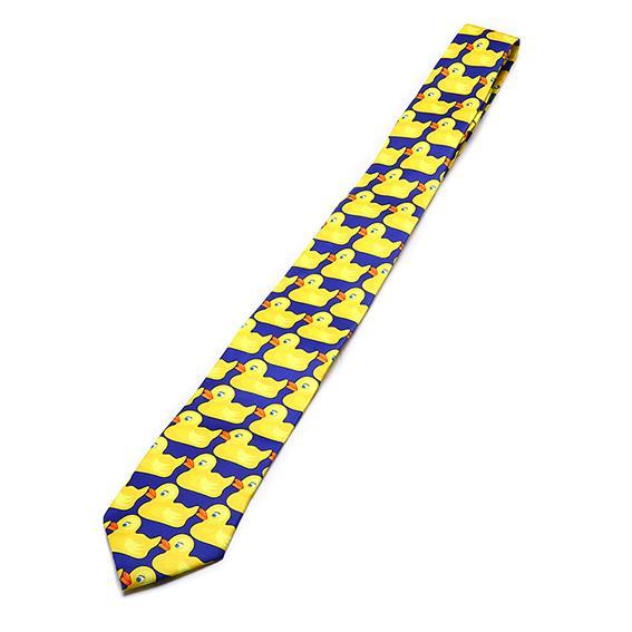 Yellow Funny Rubber Duck Tie Men's Fashion Casual Fancy Ducky Professional Necktiedresskily-dresskily