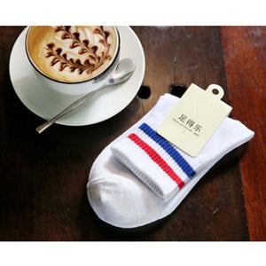 2017 New Cotton Sock Casual Women Men Two Lines Short Socks Couplesdresskily-dresskily