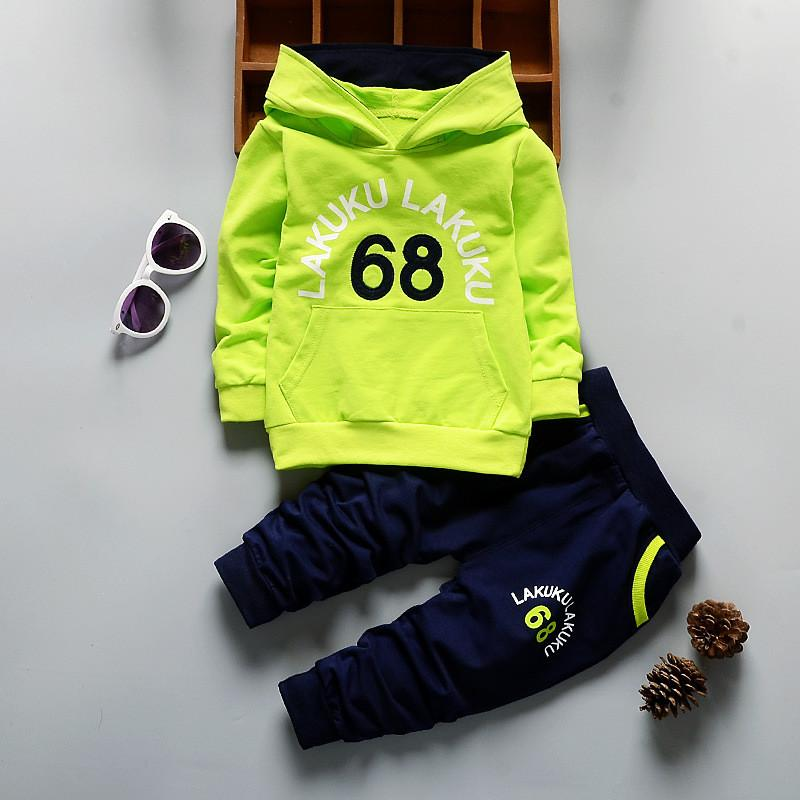 baby boys clothing autumn tracksuit infant clothes hoodies t-shirt+pants outfits cottondresskily-dresskily