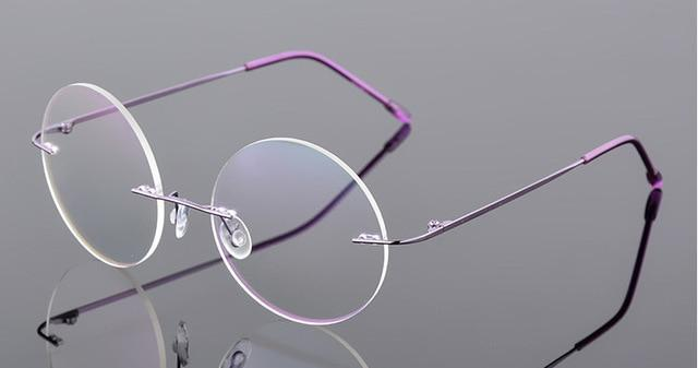 ultra-light rimless Optical frame men women Titanium Rimless eye glasses Framedresskily-dresskily