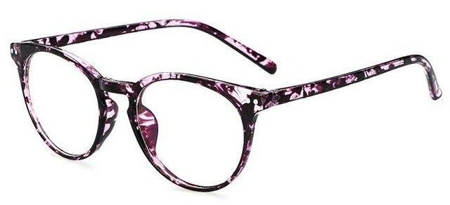 New Fashion Women Glasses Frame Men Black Eyeglasses Frame Vintage Rounddresskily-dresskily