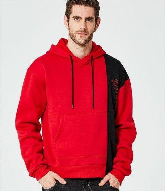 Winter Men Warm Hoodies Sweatshirt Fashion Quality Patchwork Streetwear Tracksuit Maledresskily-dresskily