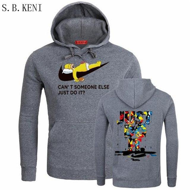 2018 Just Do It hoodies Sweatshirts Poleron Hombre Fashion skateboard Streetwear Sweatshirtdresskily-dresskily