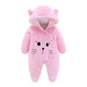 2018 new born Baby costume cute Rompers Winter Boy Cotton Newborn toddlerdresskily-dresskily