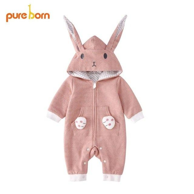 Pureborn Baby Rompers Boys Girls Baby Clothes Spring Cotton Clothing for Newbornsdresskily-dresskily