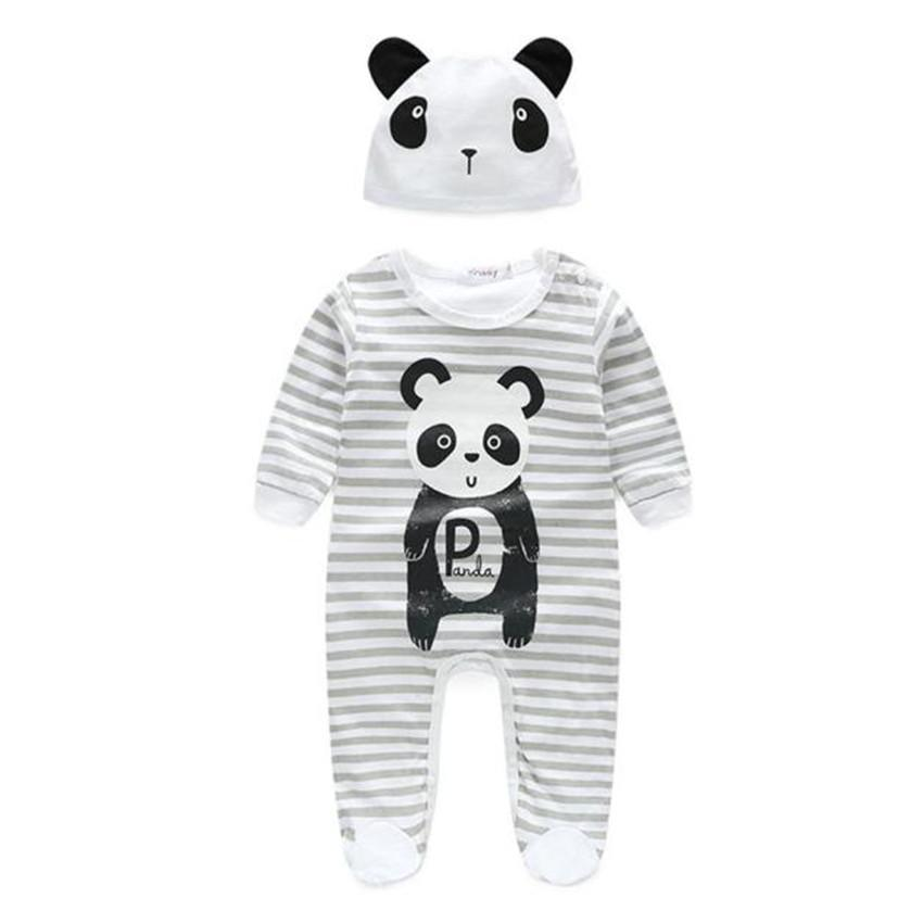 #5001 Baby Boy Girl Clothes Animal Rompers With Hat Long Sleeve Jumpsuitsdresskily-dresskily