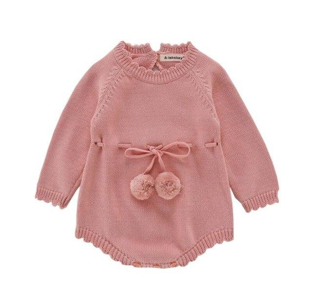 2018 Autumn Baby Boys Girls Knit Romper Newborn Infant Baby Knitted Romperdresskily-dresskily