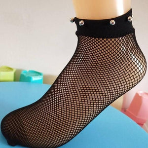 flame net socks women set Harajuku women socks thin fishnet hollowdresskily-dresskily