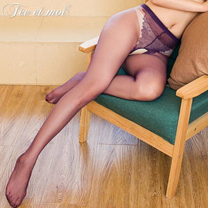 2018 New Sexy Open Crotch Pantyhose for Women Stockings Sheer Nylon Tightsdresskily-dresskily