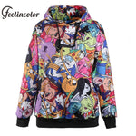 Feelincolor Adventure time Hoodies Men 3D Printed Pokemon Hoodie Sweatshirt Hip Hopdresskily-dresskily