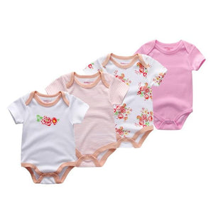 4pcs/lot Newborn short sleeve baby boy girl Bodysuits summer baby junmpsuit babydresskily-dresskily