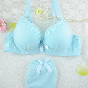 HOT Vintage Sexy Lace Suit Bra Sets Casual Women's Lace Push Updresskily-dresskily