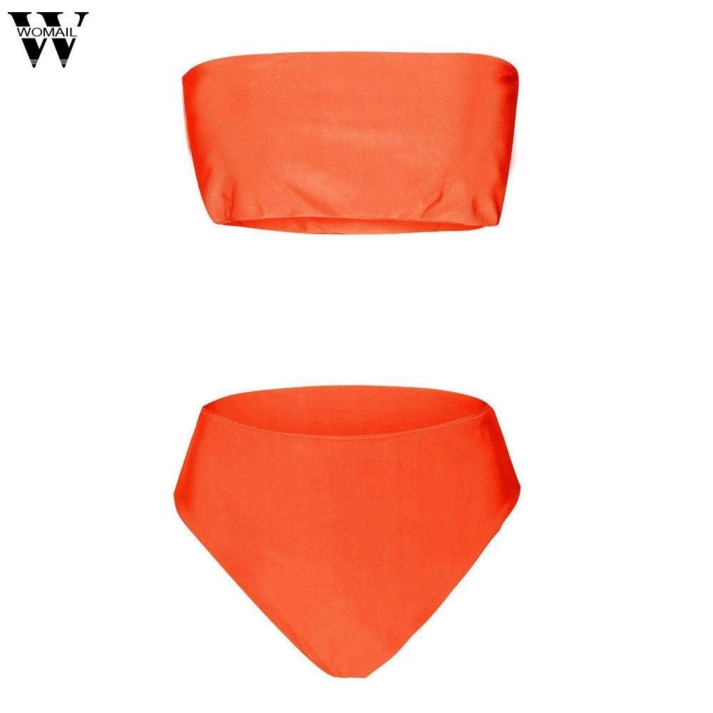 2018NEW Women Bandage Bikini Bra Swimsuit Bathing 2pcs Set Swimwear Sixdresskily-dresskily