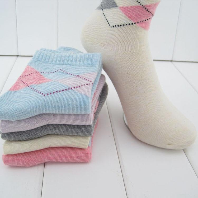 20 pieces=10pairs new design women's socks with high quality Winter Rhombusdresskily-dresskily