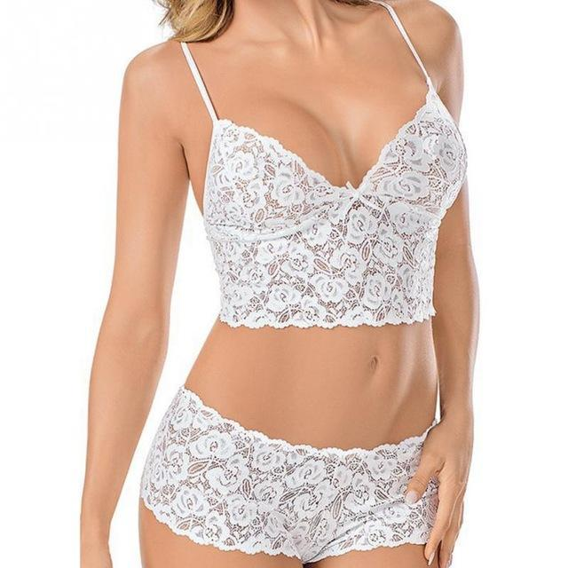 Women Bra Suit Comfy Seamless Fashion Sexy Lace Bra Suit Transparence Ladiesdresskily-dresskily