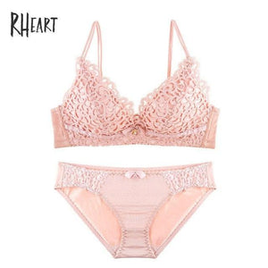 Roseheart 2018 New Women Fashion Pink Red Sexy Lingerie Lace Jacquard Wirelessdresskily-dresskily
