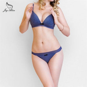 New Brands Wire Free Underwear Set Women Thin Cotton Lace Bradresskily-dresskily