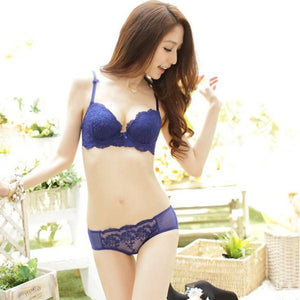 Women Lady Girls Sweet Bowknot Lace Floral Satin Bra Underwear Push Updresskily-dresskily