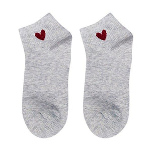Heart Cute College Wind Simple Basic Fresh Female Socks Warm Comfortable Cottondresskily-dresskily