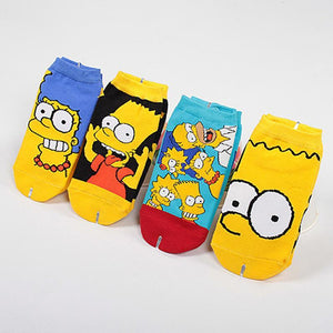 Summer Boat Socks Simpson Cute Socks Cartoon Kawayi Cotton Women Girl Non-slipdresskily-dresskily