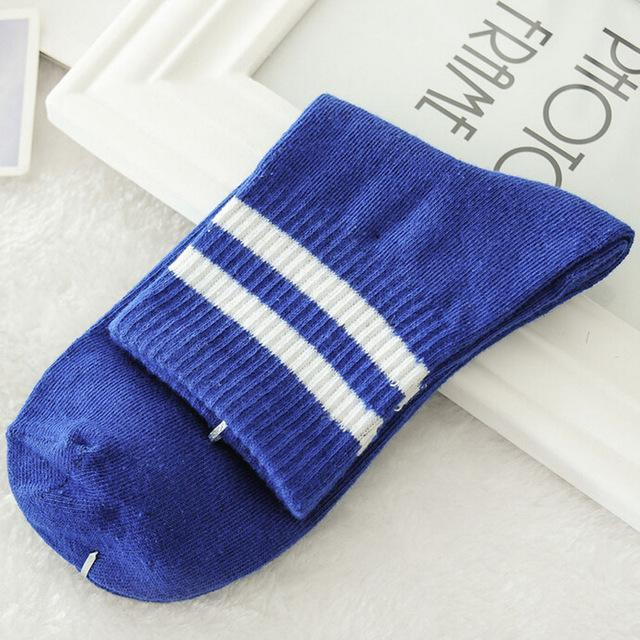 Hip Hop Stripe Sock Creative Women Various Colors Harajuku Cotton Skateboard Sockdresskily-dresskily