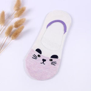 Hot socks women cotton cartoon animal expression socks summer comfortable breathable socksdresskily-dresskily