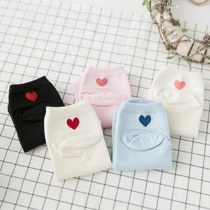 women socks 5 pairs cotton women fashion short socks women breathbale cottondresskily-dresskily