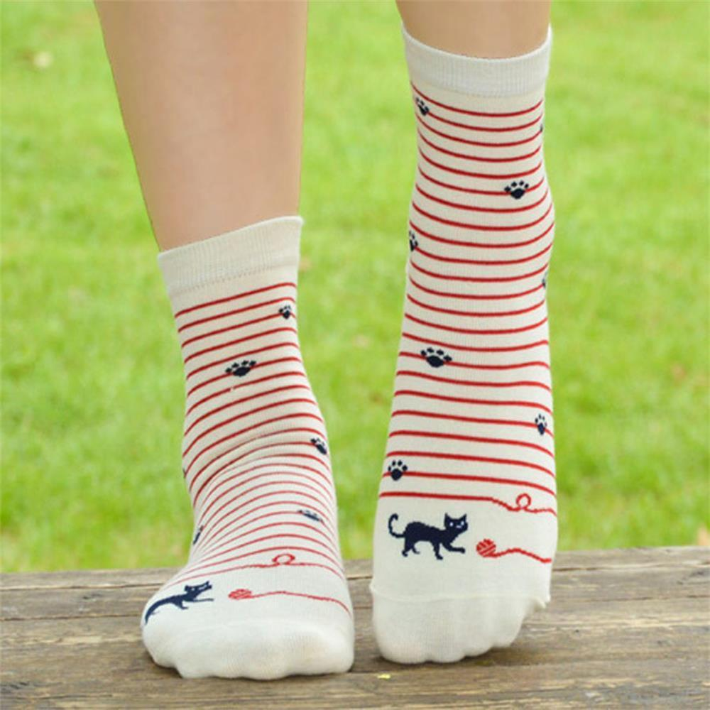 PLOFR5 women good black white  short socks dresskily-dresskily