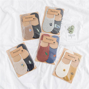 2018 spring summer women socks 2 pairs short cotton color cute creativedresskily-dresskily