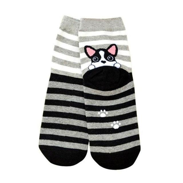 #5606 3D Animals Cartoon Socks Women Puppy Footprints Cotton Socks Floordresskily-dresskily