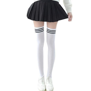 Women High Over The Knee Socks Thigh High Stockings Opaque Warm Japanesedresskily-dresskily